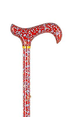Adjustable Red Floral Stick