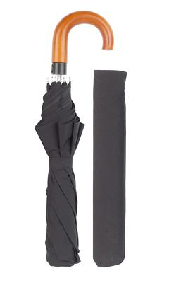 Embassy Black Crook Folding Umbrella