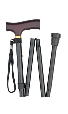 Black Folding Stick (long)
