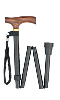 Black Folding Stick (short)