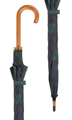 Black Watch Tartan Crook Umbrella