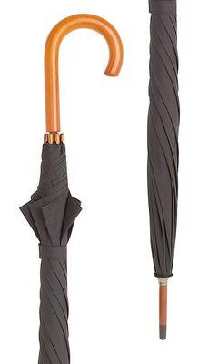 Hampton Black Crook Umbrella