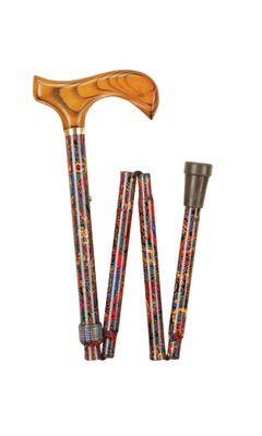 Red Paisley Folding Stick