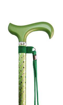 Sassy Green Engraved Adj Stick