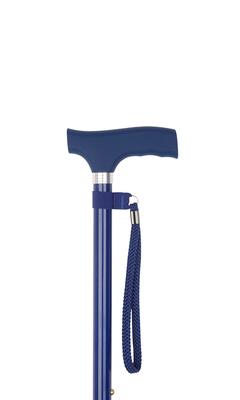 Blue Silicone Handle Adjustable Stick