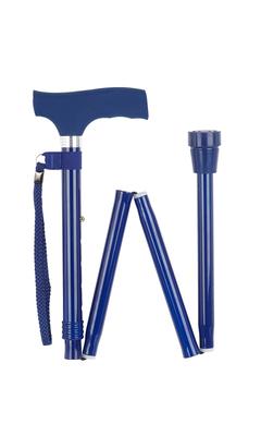 Blue Silicone Handle Folding Stick