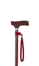 Burgundy Silicone Handle Adjustable Stick Thumbnail