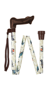 Garden Birds Anatomical Folding Stick (left-hand)