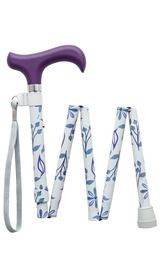 Purple Flowers Folding Stick